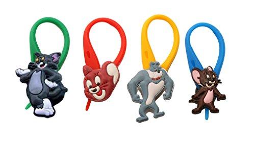 4 pezzi Tom and Jerry Colorato Soft Zipper Pull Pendaglio di Zaino di Giacca