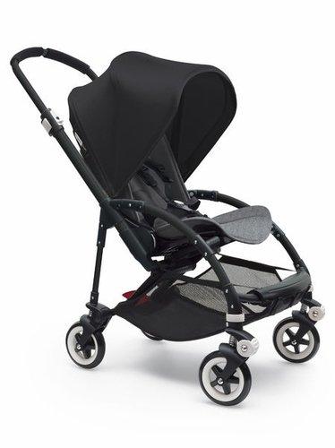 Bugaboo Bee 3 Black Frame Stroller With Grey Melange Seat (Black)