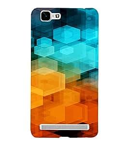 PrintVisa Color Block Prisma Pattern 3D Hard Polycarbonate Designer Back Case Cover for VivoX5MAX