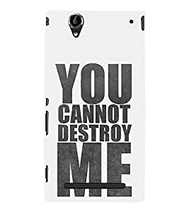 Good Attitude Quote 3D Hard Polycarbonate Designer Back Case Cover for Sony Xperia T2 Ultra :: Sony Xperia T2 Ultra Dual SIM D5322 :: Sony Xperia T2 Ultra XM50h