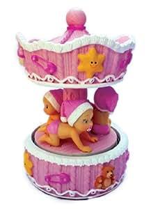 Carillon bambina girevole rosa in ceramica carion amazon - Carillon portagioie bambina ...