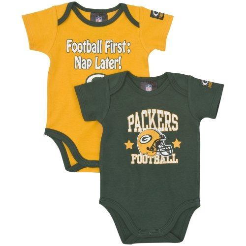 NFL Green Bay Packers Boy's Short Sleeve Bodysuit, 3-6 Months, Green at Amazon.com