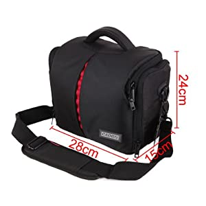 DSLR Camera Bag Case for Nikon D90 D80 D70 D60 D40 D3000s D3000 D5000 D5100 D7000 Canon EOS 500D 550D 600D 1100D 1000D POWERSHOT SX1 IS, SX10 IS, SX20 IS Rebel T3i XSi T1i T2i