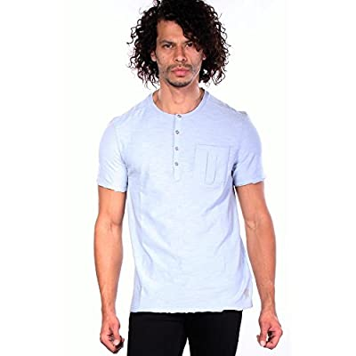 Calvin Klein Jeans Men's Short-Sleeve Cotton Henley T-Shirt