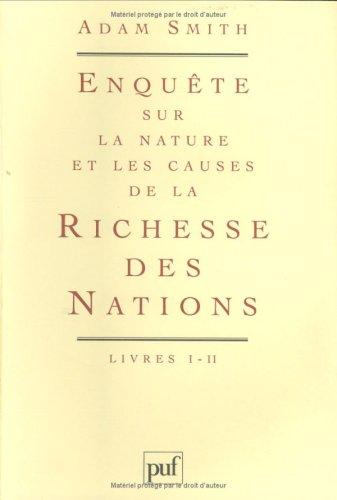 La richesse des nations, coffret de 4 volumes