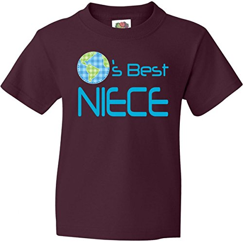 Inktastic Big Boys' Worlds Best Niece Youth T-Shirt Youth X-Large (18-20) Maroon