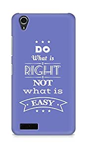 Amez Do what is Right Not what is Easy Back Cover For Lenovo A3900