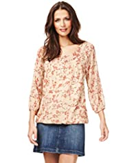 Indigo Collection Cherry Blossom Gypsy Top with Camisole