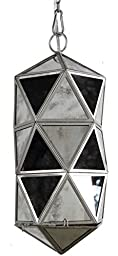 A&B Home Glass/Metal Chandelier, 8 by 8 by 19-Inch