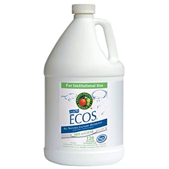 Earth Friendly Products Proline PL9764/04 ECOS Free and Clear Liquid Laundry and Microfiber Detergent, 1 gallon Bottles (Case of 4)