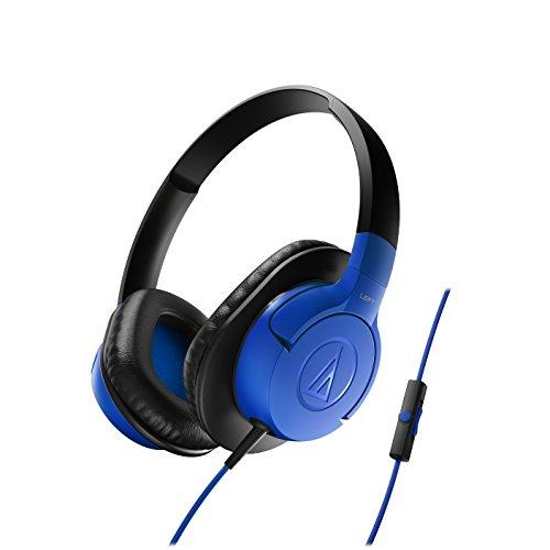 Audio-Technica ATH-AX1ISBL SonicFuel Cuffie con Microfono e Telecomando, Blu