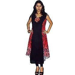 Atulya Women's Embroidered Kurti (ATKSS1502R_Red_XX-Large)
