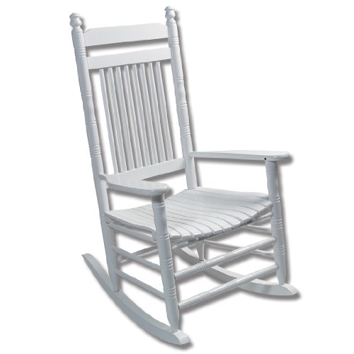 White Slat Rocking Chair - RTA : Rocking Chairs