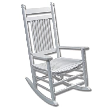 White Slat Rocking Chair - RTA