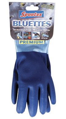 SPONTEX 20005 Household Gloves, X-Large, Blue (True Blue Gloves compare prices)
