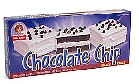 Little Debbie Snacks Chocolate Chip Snack Cakes, 10-Count Box (Pack of 6)