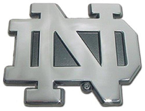 "Notre Dame ""ND"" Chrome METAL Auto Emblem by Elektroplate"