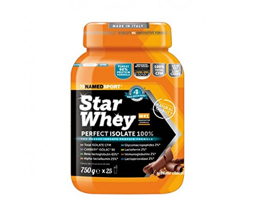 Star Whey - Named - 100% Proteine del Siero del Latte Isolate di purissima qualità (Gusto: CACAO)