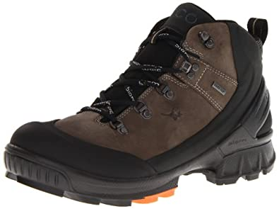 Ecco Mens Biom Hike Black/Warm Grey Calder/Yak O.N Boots Black Schwarz (BLACK/WARM GREY) Size: 46