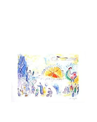 "Marc Chagall ""Les Quatre Saisons (Four Seasons)"" 1987 Unframed Poster, Multi"