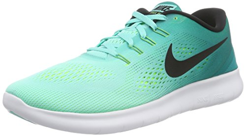 Nike Free RN Men's Running Shoes Lightweight Sneakers Hyper Turquoise Black 831508 300 (10 M US)