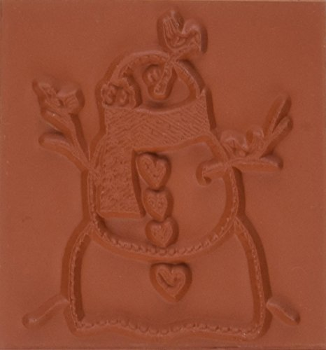 Deep Red Stamps Snowman with Birds Rubber Stamp