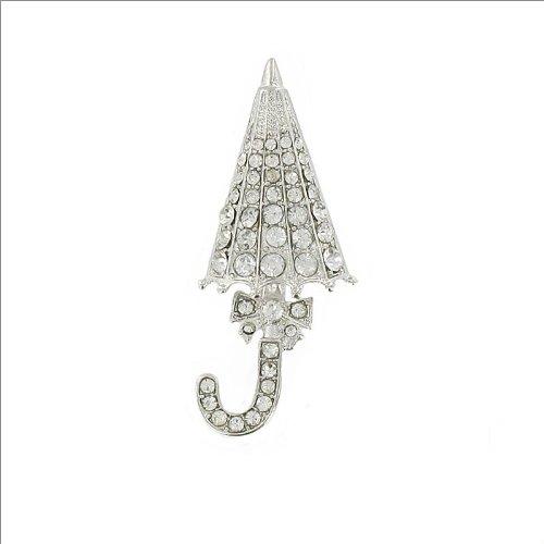 Umbrella Design W Bow & Stone Pin #035219