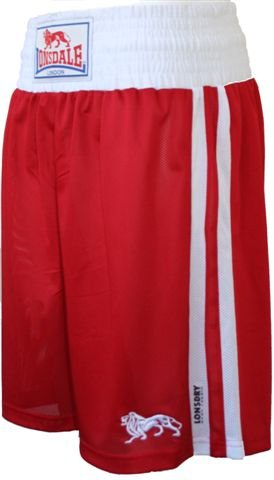 Lonsdale Club Boxing Shorts Red/White YOUTH