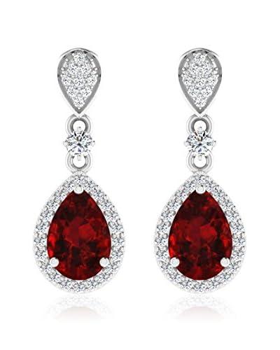 Art Of Diamond Orecchini Ruby White Gold