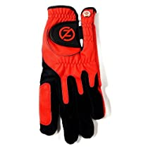 Zero Friction Mens Universal Fit Glove With Ball Marker Left Red