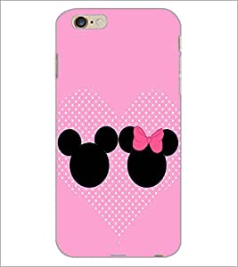 PrintDhaba Mickey and Minnie D-2359 Back Case Cover for APPLE IPHONE 6 PLUS (Multi-Coloured)