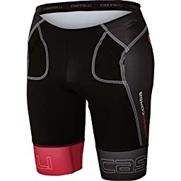 Castelli Free Tri Short - Men\'s Black/Red, XL