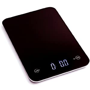 Ozeri Touch II Professional Digital Kitchen Scale, Tempered Glass in Elegant Black