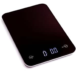 Ozeri Touch Professional Digital Kitchen Scale (11 lb Edition), Tempered Glass in Elegant Black