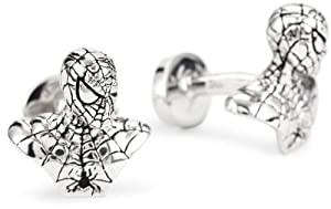 "ROTENIER ""Marvel"" Sterling Silver Spider-Man Bust Cufflinks"