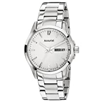 Accurist MB987W Mens Silver White Watch