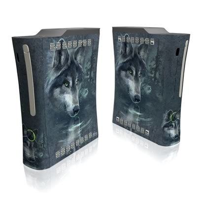 Wolf Reflection Full Body Protector Skin Decal Sticker for Xbox 360 Console