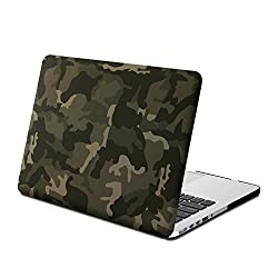 Gmyle Hard Case Print Frosted (Camouflage Pattern) for 13 inch Macbook Pro with Retina Display - Woodland Camouflage