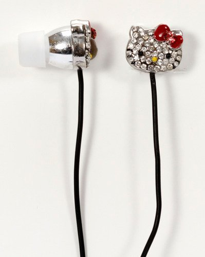 Hello Kitty Bling Earbuds - Silver (Hkbl1000) Toy, Kids, Play, Children