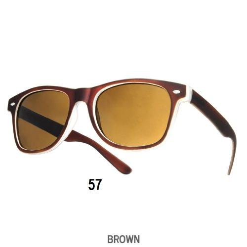 4sold Sonnenbrille Nerdbrille retro Wayfarer Unisex Herren/Damen Sonnenbrille, UV-Schutz 400, Schildpatt Herren Sonnenbrille Spicoli 4 Shades, Tortoise Aussen, One size (19) (57)