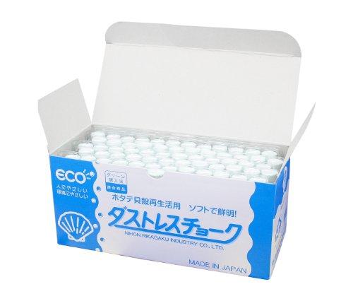 日本理化学 ダストレスチョーク DCC-72-W 白 72本