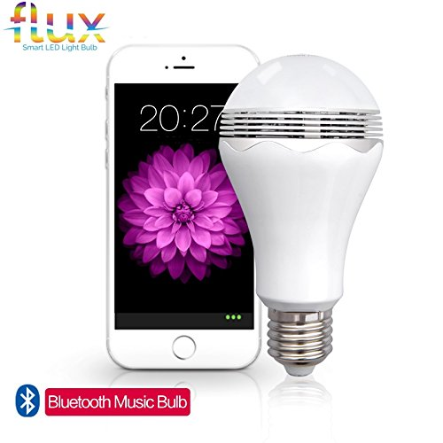 Flux™ Blast - LED Light Bulb With Bluetooth Speaker - Cool White (6000K) - 40 Watt Equivalent (6W) A19 Bulb - Works with Apple iPhone, iPad and Android Phone (Fridge Lock With Timer compare prices)