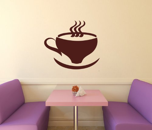 Housewares Vinyl Decal Flavored Coffee Cup Home Wall Art Decor Removable Stylish Sticker Mural Unique Design For Room Bakery Cafe Kitchen