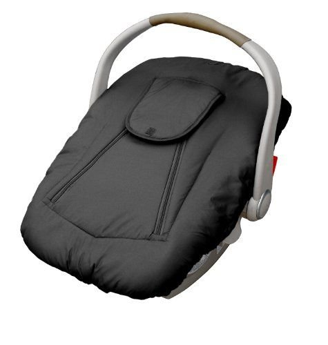 Jolly Jumper Arctic Sneak-A-Peek Infant CarSeat Cover With Attached Blanket, Weatherproof - Black