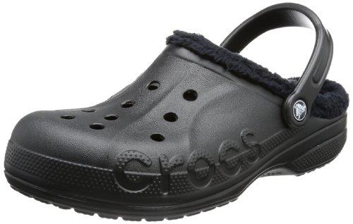 crocs-baya-zuecos-con-forro-y-correa-unisex-color-negro-talla-38-39