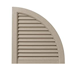Open Louvered Arch Top (Set of 2) Color: Pebblestone Clay
