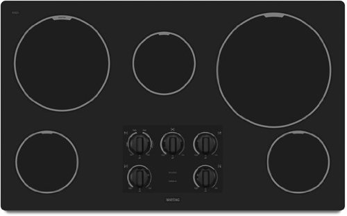 Maytag MEC7536WB 36 Smoothtop Electric Cooktop - Black