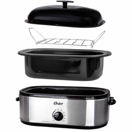 Oster 24-Pound Stainless Steel Turkey Roaster Oven with Highdome Lid and 18-Quart Capacity (Toaster Pan Oster compare prices)