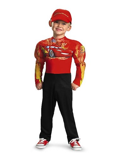 Lightning Mcqueen Classic Muscle Costume - Small (4-6) front-996892