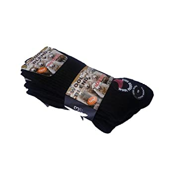 3 pairs mens wool blend non elastic boot socks. padded sole .